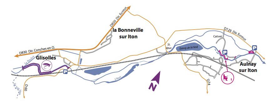 Parcours iton la truite de l 39 iton for Piscine jean bouin evreux